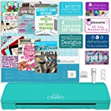 Silhouette America Cameo 3 Teal Edition with with Bluetooth, Auto Adjusting Blade, Vinyl Trimmer, 12x12 Mat, 110v-220v Power Cord Warranty,
