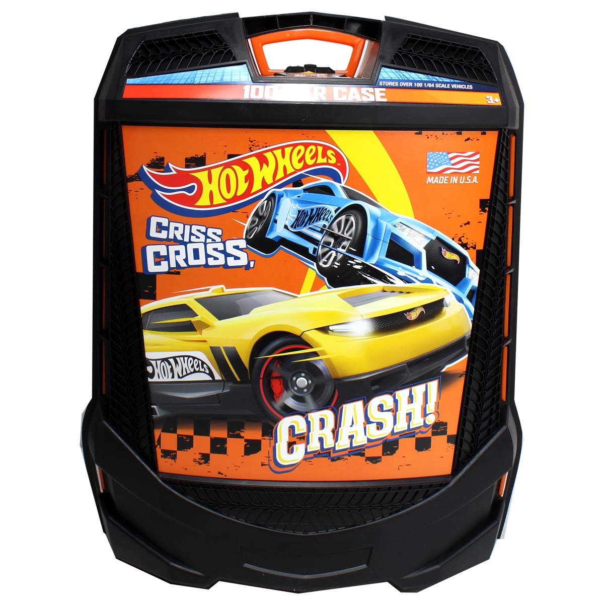 3b23f29d3cd67 Hot Wheels 100-Car, Rolling Storage Case with Retractable Handle