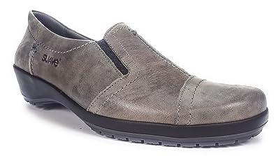 Suave 7113HC Gris - Chaussures Mocassins Femme