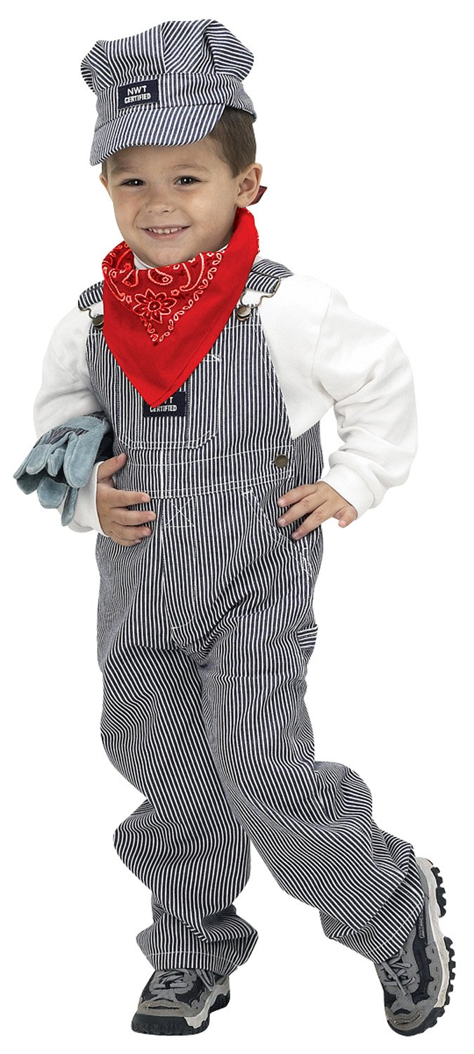 Aeromax Jr. Train Engineer Suit with Cap and Accessories, Size 2/3