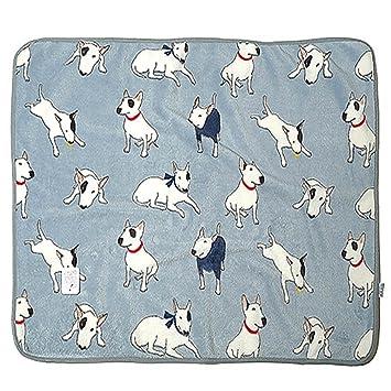 Nuomi - Manta suave de franela de peluche Bull Terrier para mascotas, alfombrilla de cama, oficina, toalla de bebé: Amazon.es: Productos para mascotas