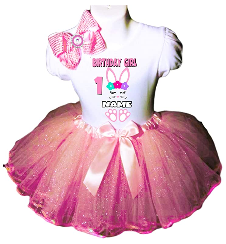 Birthday Tutu Set-Bunny Birthday Tutu Outfit *Bow NOT Included* Pink Little Bunny Birthday Tutu Outfit Some BUNNY is One Any Number
