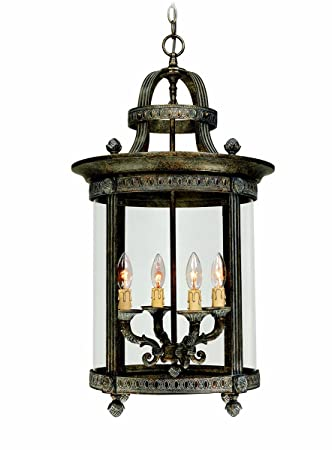 World Imports 1604-63 Chatham Collection 4-Light Hanging Interior Lantern, French Bronze