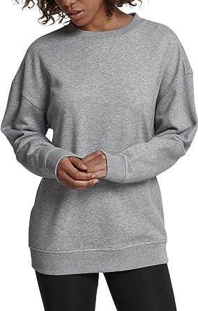 f1c68042f29567 Urban Classics Damen Ladies Oversize Crewneck Pullover, Grau (Grey 00111),  X-