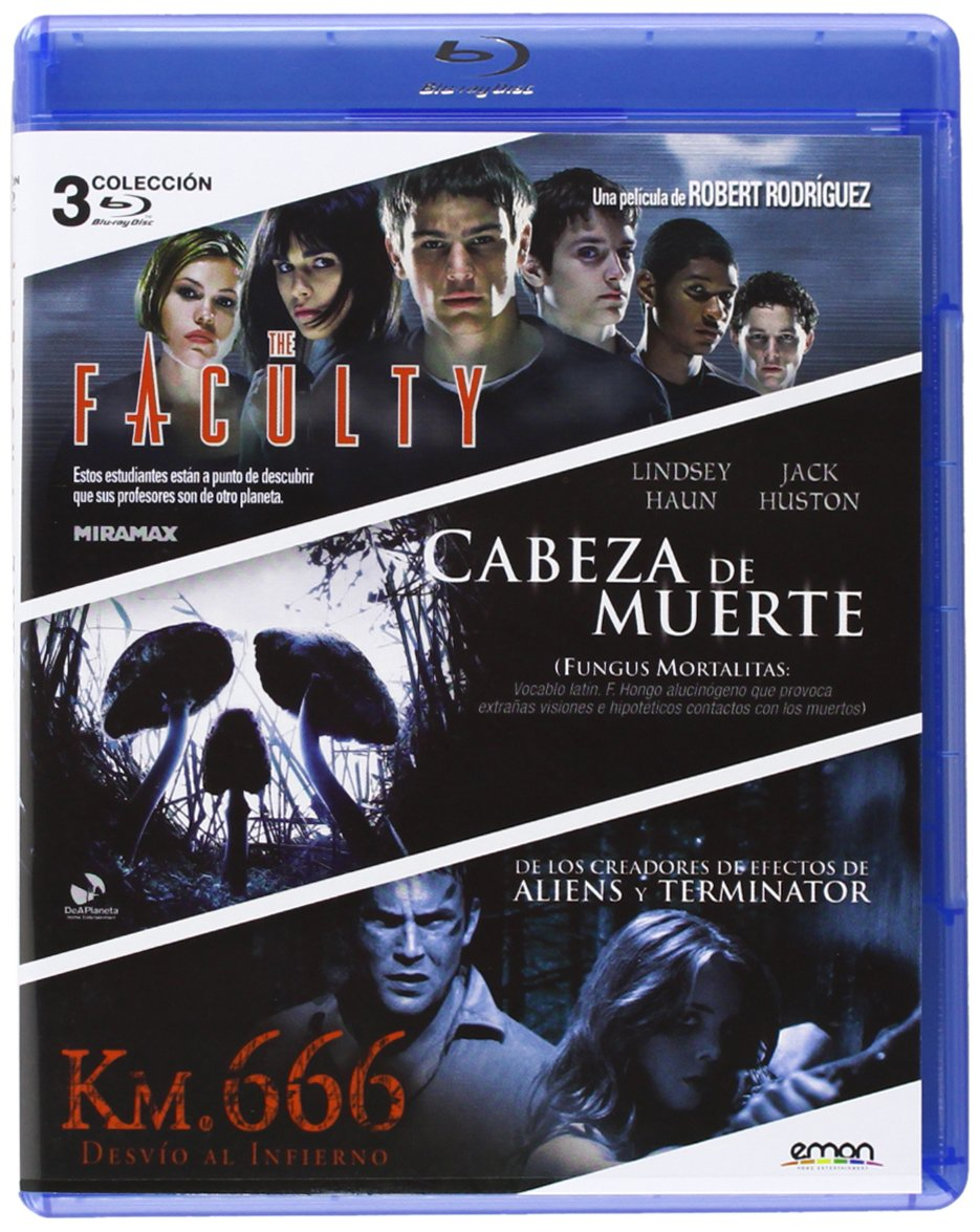 Pack: The Faculty + Cabeza De Muerte + Km. 666 Blu-ray: Amazon.es: Clea Duvall, Lindsey Haun, Jeremy Sisto, Robert Rodríguez, Paddy Breathnach, Rob Schmidt, Clea Duvall, Lindsey Haun: Cine y Series TV