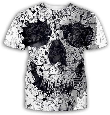 Camisetas, Camiseta De Hip Hop De Gran Tamaño para Hombre con Patrón De Cráneo De La Personalidad, Camisa De Manga Corta con Impresión Digital Unisex 3D @ 6XL_Punk: Amazon.es: Ropa y accesorios