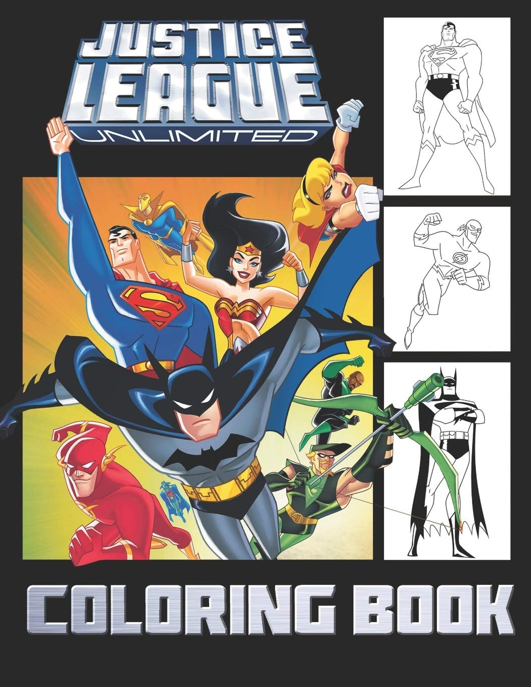 Justice League Coloring Book  25 Exclusive Illustrations
