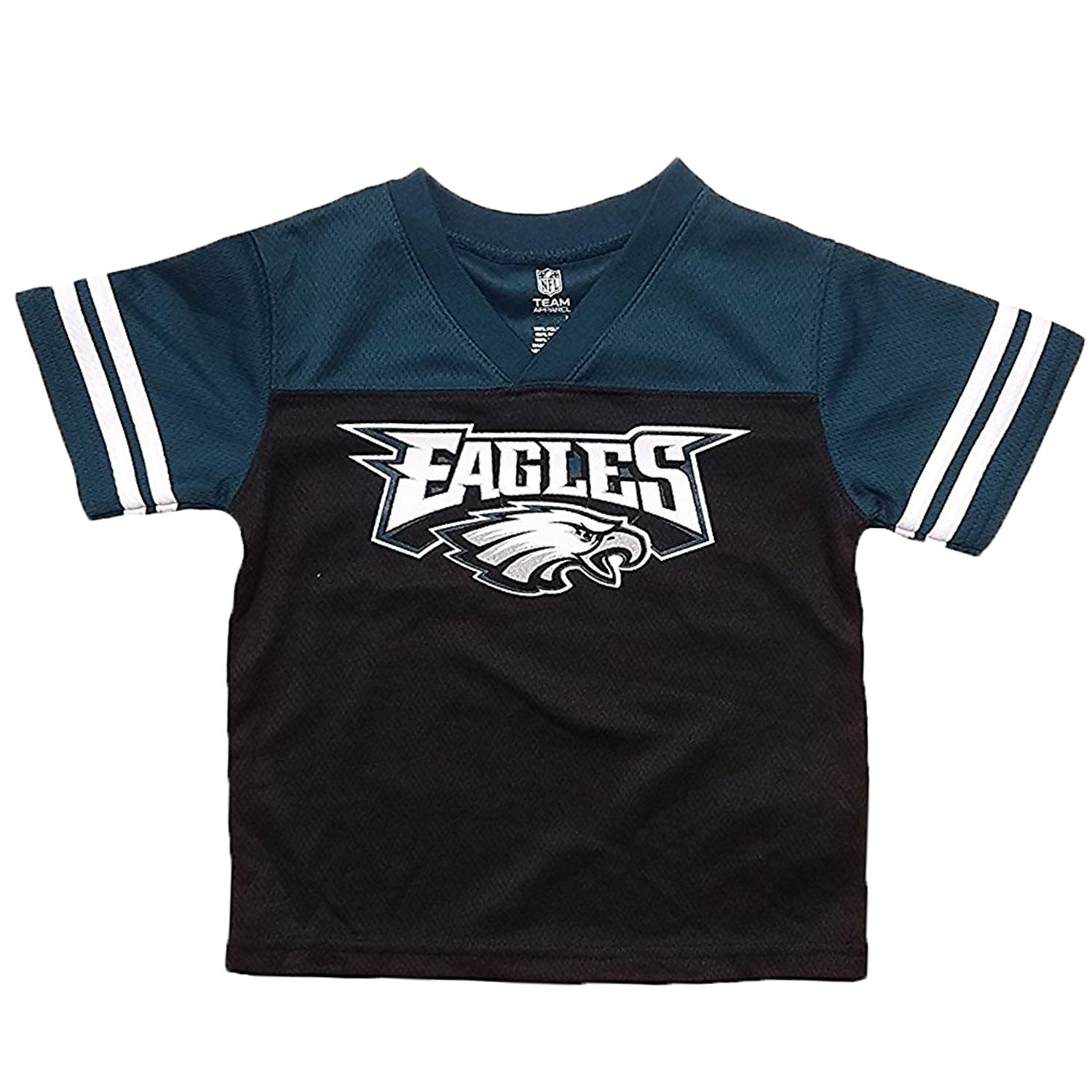 Amazon.com  Philadelphia Eagles Black Kids Team Apparel V Neck Jersey (Kids  4)  Clothing d240398b9264