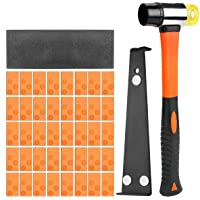 Global-store Wood Flooring Installation Kit, 43pcs Laminate Flooring Tools Set with 40 Spacers, Tapping Block, Pull Bar…