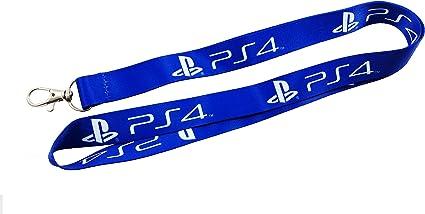 Playstation 4, PS4 correa/Llavero azul con Clip para llaves o ID ...