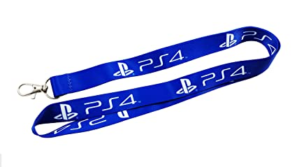 Playstation 4, PS4 correa/Llavero azul con Clip para llaves ...