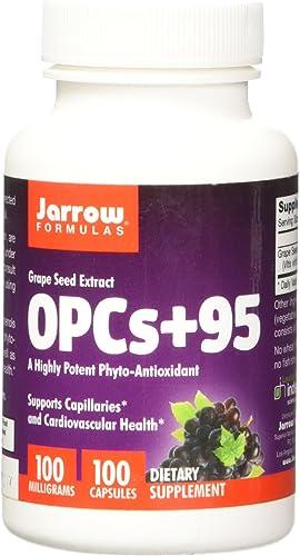 Jarrow Formulas OPCs 95 100 mg, Suports Cardiovascular Health, 100 mg, 100 Caps