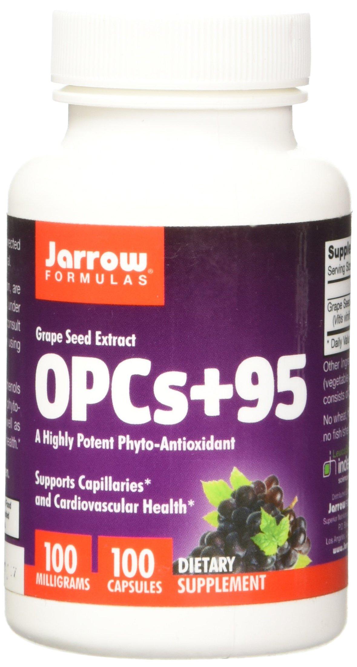 Jarrow Formulas OPCs + 95 100 mg, Suports Cardiovascular Health, 100 mg, 100 Caps