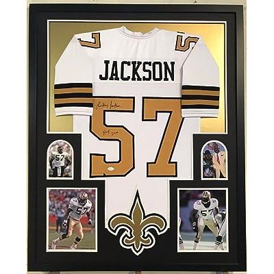 Framed Rickey Jackson Signed Insc New Orleans Saints Jersey JSA Coa 666edc427