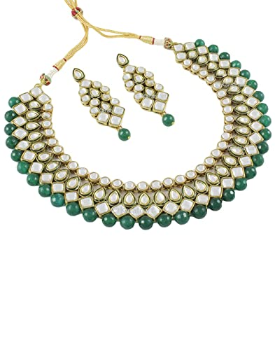 c4c1e52063 Buy Karatcart Brass Choker Necklace for Women (Green) Online at Low Prices  in India | Amazon Jewellery Store - Amazon.in