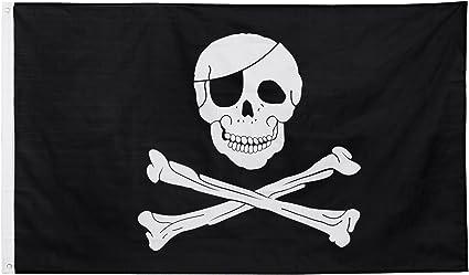 Totenkopf Skull Piraten Fahne Flagge Hissflagge 150 cm x 90 cm