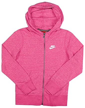 bfcdc6eedf Amazon.com: Nike Girls Sportswear Gym Vintage Full-Zip Hoodie Hooded  Sweatshirt 824206 Pink - Youth Large: Clothing