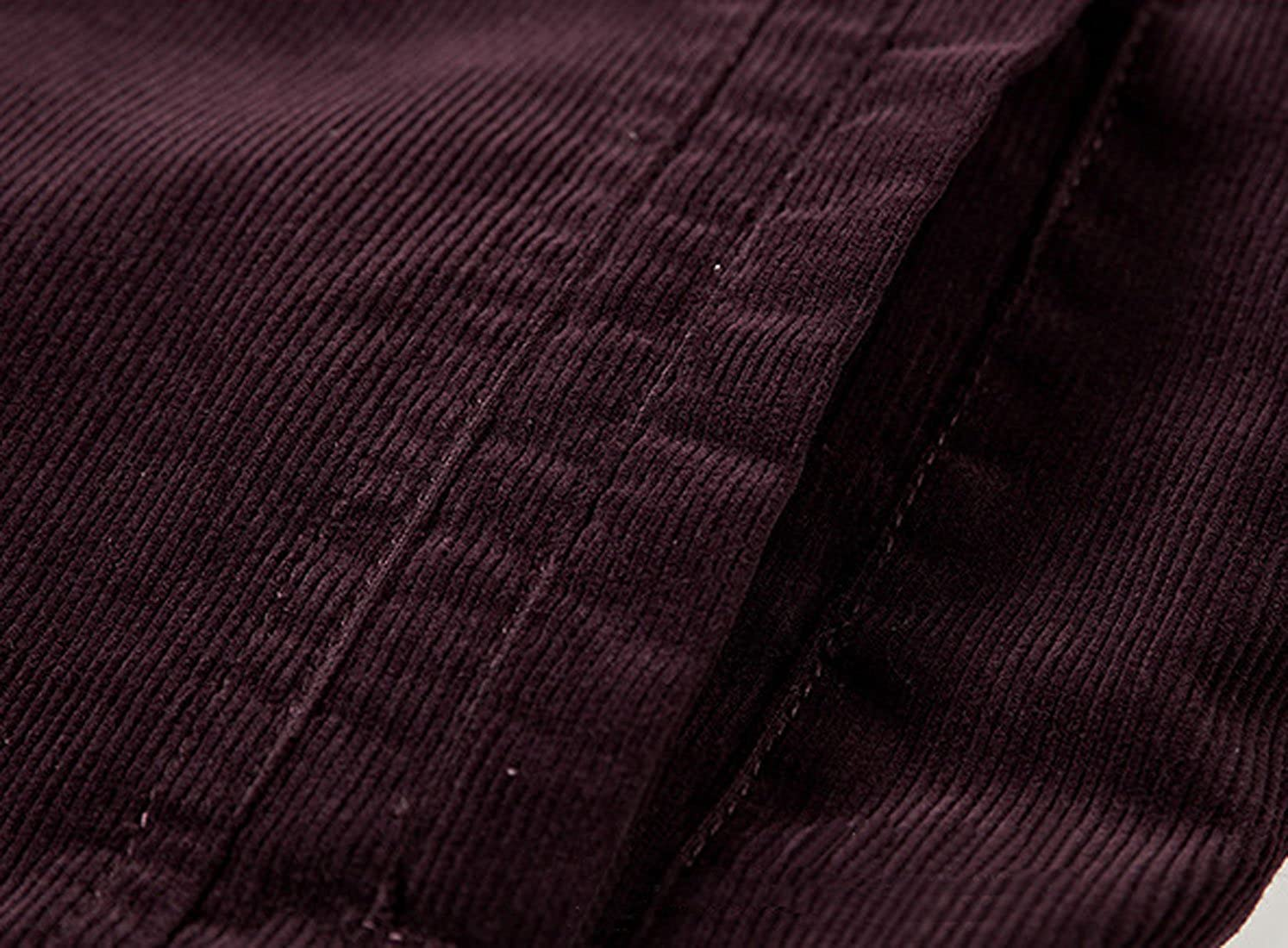 d4eb8330e99 Chartou Mens Vintage Button-Front Slim Fit Corduroy Denim Jacket for ...