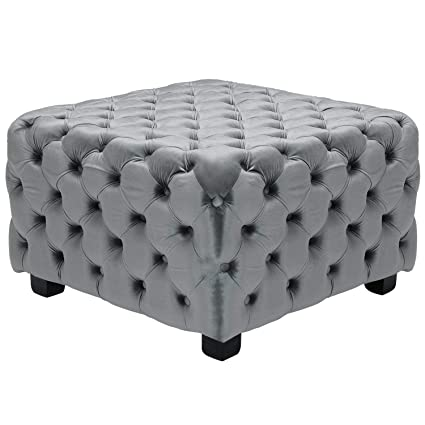 Amazoncom Duhome Elegant Lifestyle Velvet Ottomanlight Gray