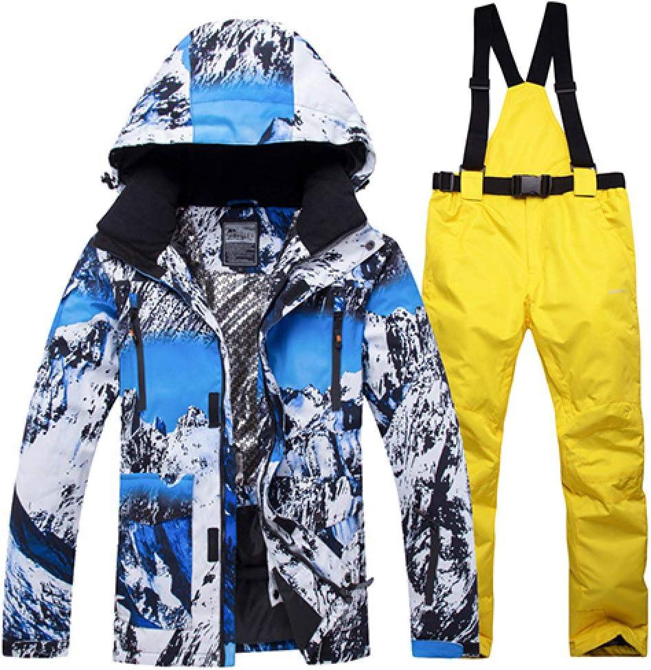 Farbe11 XXL ZYJANO Skianzug,Neuer Winter-Skianzug für Männer Warme Winddichte wasserdichte Outdoor-Sport-Schneejacken und Hosen Männliche Skiausrüstung Snowboardjacke