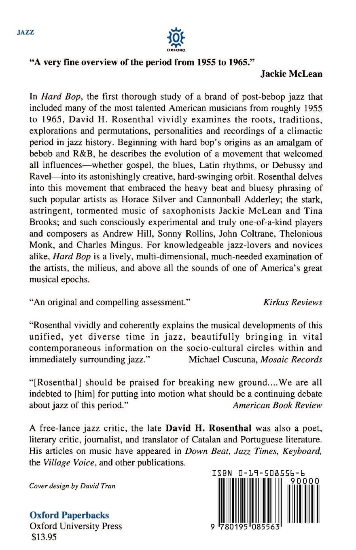 Amazon com: Hard Bop: Jazz and Black Music 1955-1965 (9780195085563
