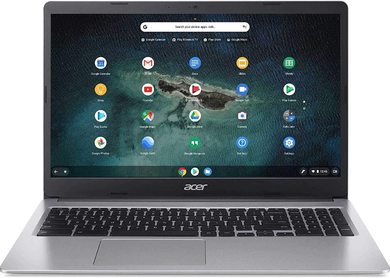 Acer 15.6inch HD Chromebook, Intel Celeron Dual Core N4000 Processor Up to 2.60GHz, 4GB LPDDR4 RAM, 64GB SSD, Numeric Keypad, Chrome OS-(Renewed) (64GB)