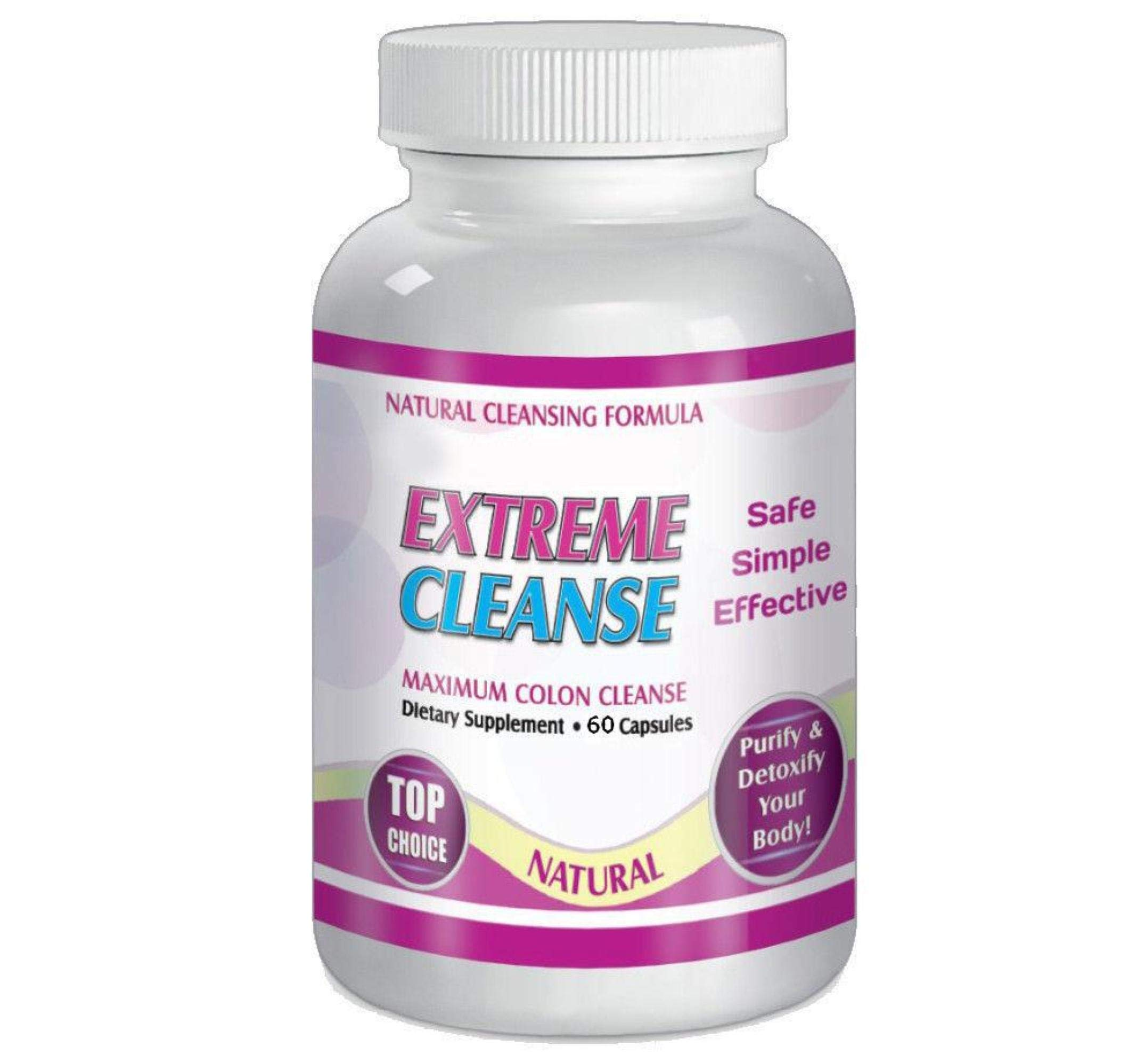 Extreme Cleanse Maximum Colon Detox Control 30 day supply Weight Loss Diet Supplements By Slimax