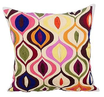 Amazon.com: Funda de almohada decorativa de color marfil ...