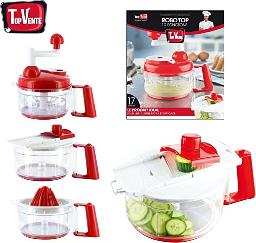 Antipasti & Cie-Robot de cocina manual multifunción 5 en 1 rallador, mandoline...: Amazon.es: Hogar