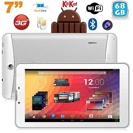 Tablet 3 G 7 pulgadas GPS OTG Android 4.4 Doble SIM 68 GB ...