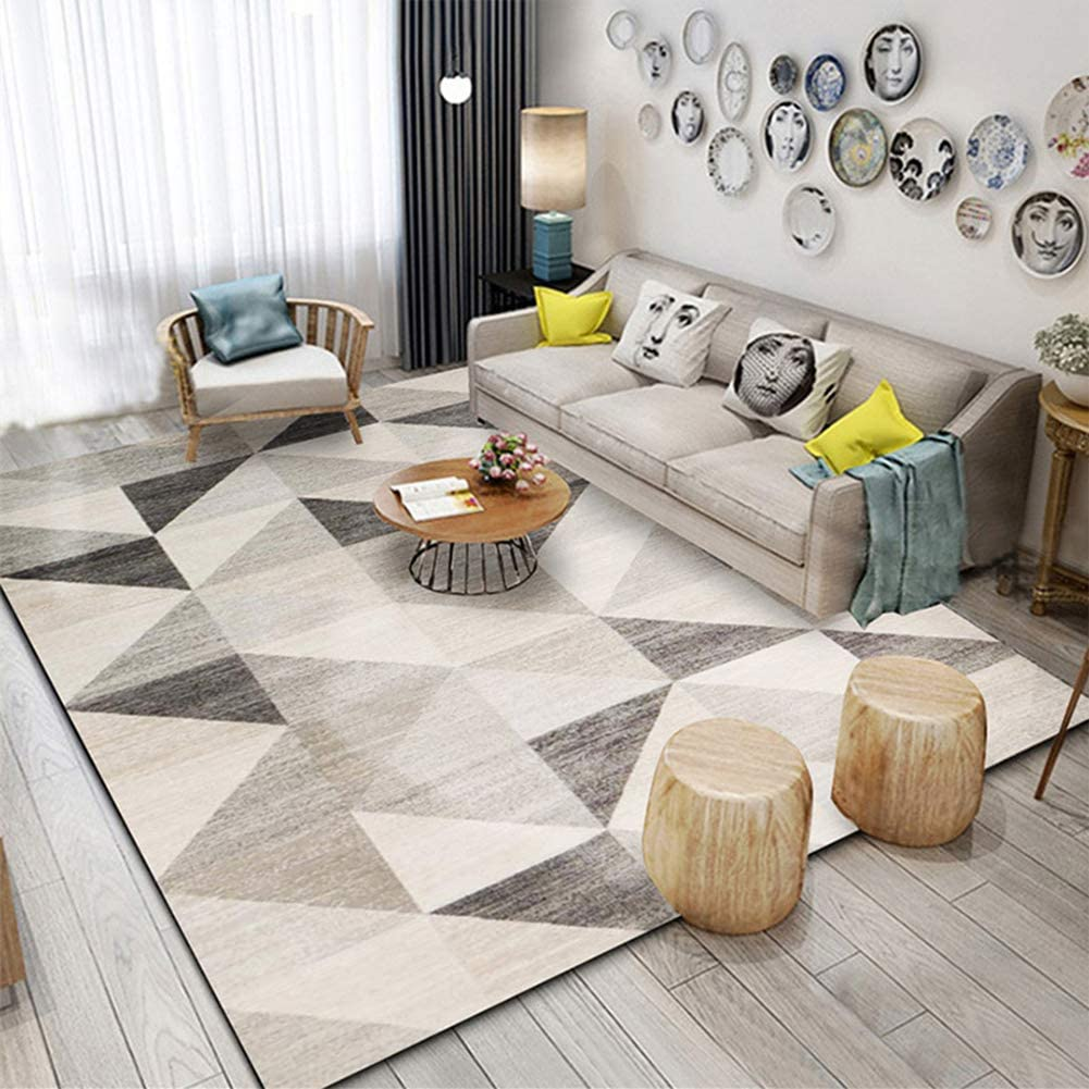 ZPEE Modern Moroccan Geometric Area Rugs,Decor Rug Children Play Nursery Rug for Living Room,Soft Rectangle Accent Rug Bedroom Carpets