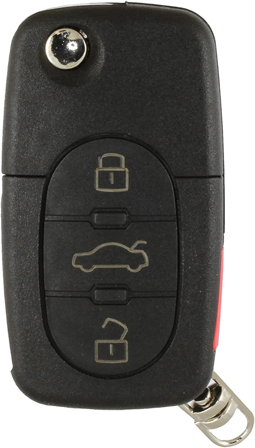 4D0837231P Discount Keyless Replacement Uncut Car Keyless Entry Remote Fob Key Combo Compatible with Audi 4D0837231E