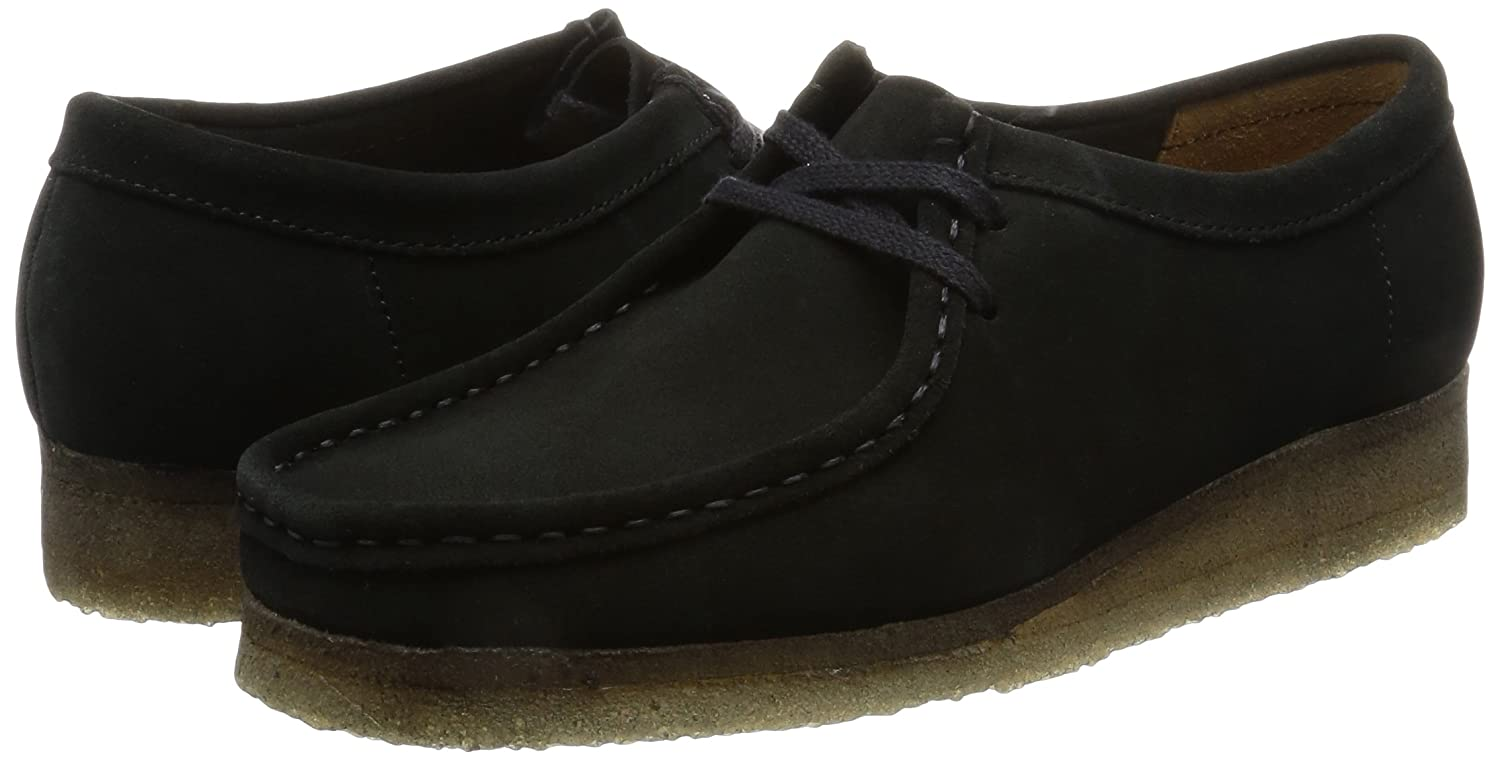 Clarks Originals Wallabee Sneakers Damen Niedrig Top Sneakers Wallabee Schwarz (schwarz) aafc25