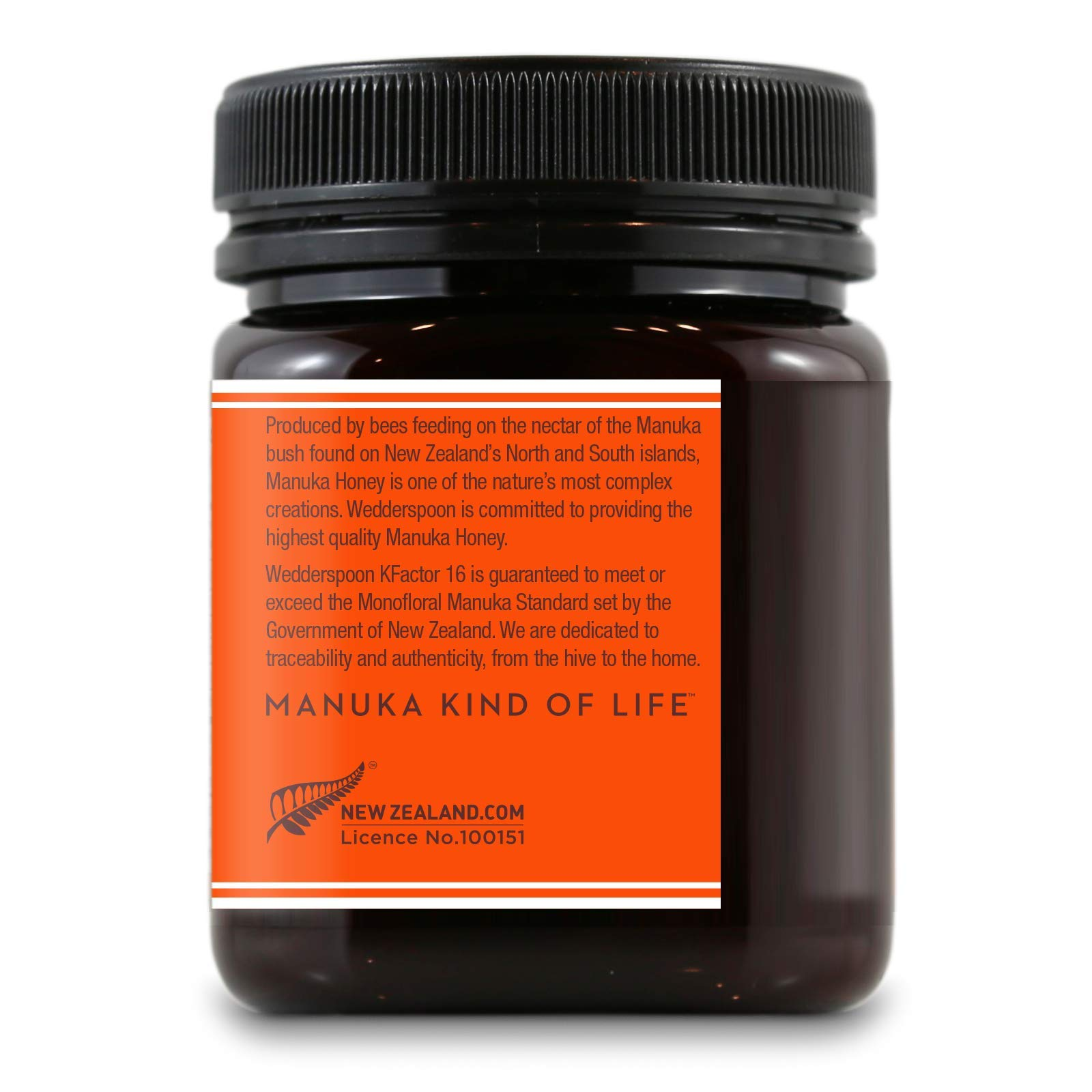 Wedderspoon Raw Premium Manuka Honey KFactor 16, 8.8 Oz, Unpasteurized, Genuine New Zealand Honey, Multi-Functional, Non-GMO Superfood by Wedderspoon (Image #3)