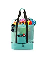 Beach Bag, Extra Large Beach Bags Totes for Women with Zipper Blue Pool Bag Toy