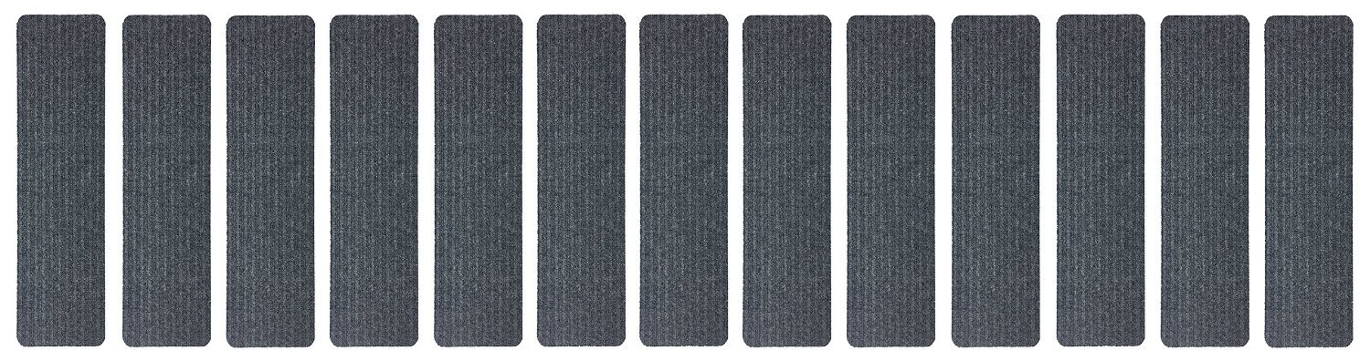 Stair Treads Collection Indoor Skid Slip Resistant Carpet Stair Tread Treads (Dark Grey, Set of 13 (8 in x 30 in)) by RugStylesOnline (Image #4)