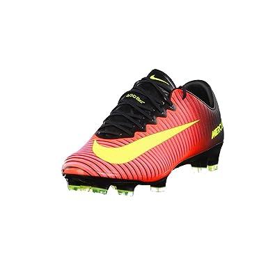 Nike Mercurial Vapor X FG Soccer Cleat (Total Crimson, Black