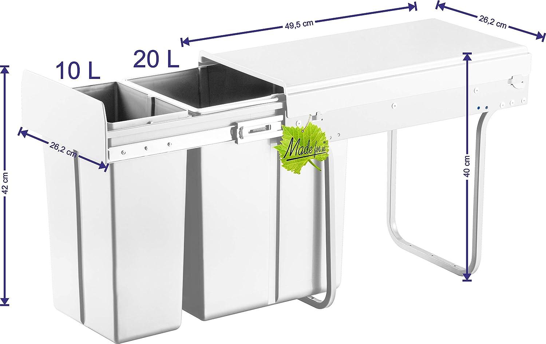Müll- & Abfalleimer Küchen Einbau Mülleimer Mülltrennsystem ...