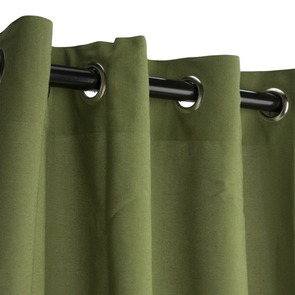 Sunbrella Outdoor Curtain with Grommets -Nickle Grommets - Cilantro 50x108''