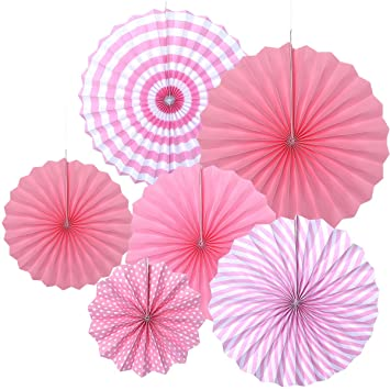 Luoem Hanging Fans Tissue Paper Fan Paper Flowers For Baby Shower