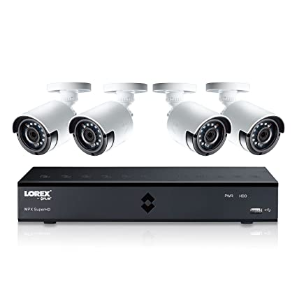 Amazon.com : Lorex 4MP Super HD 4 Channel Security System ( LHA41041TC4B) with 1TB DVR and Cameras Color Night Vision Camera \u0026 Photo