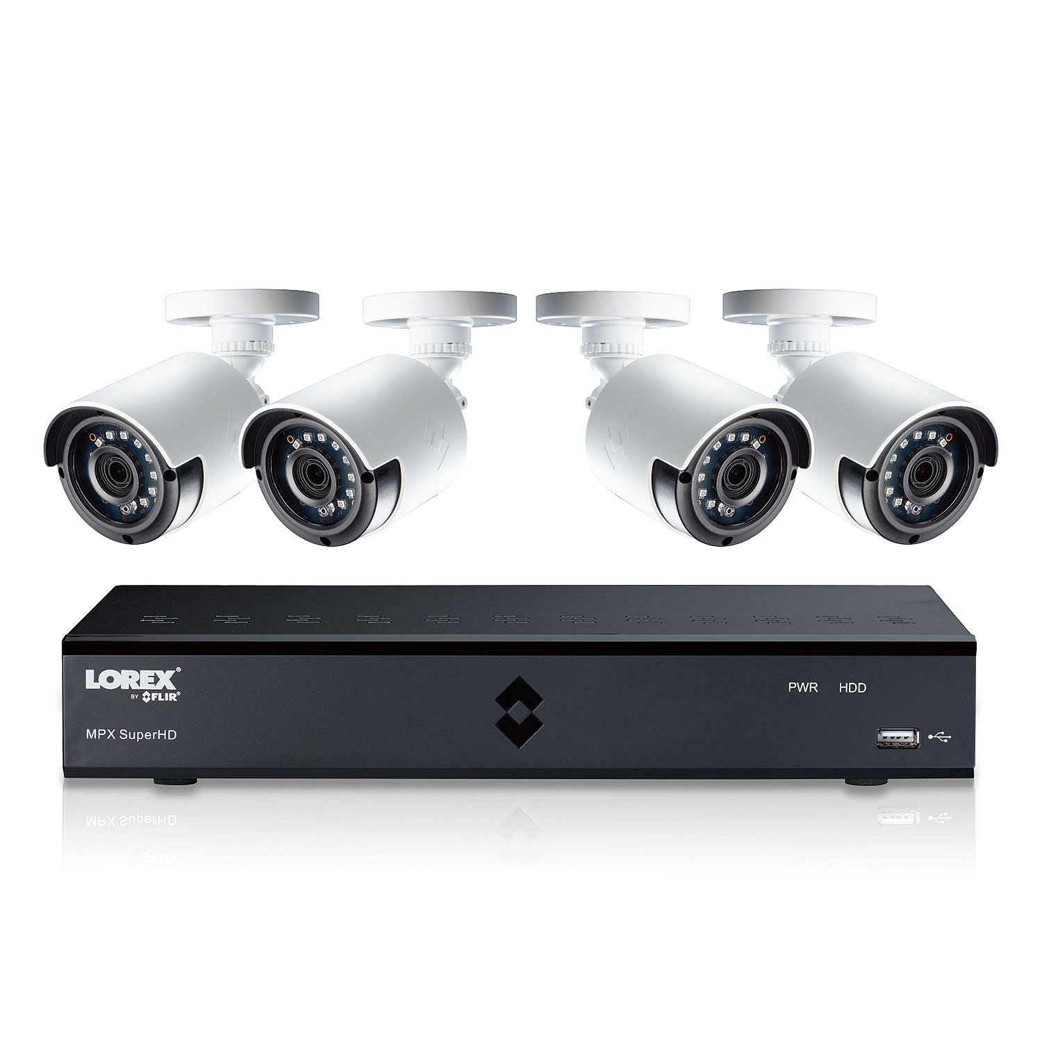 Lorex 4MP Super HD 4 Channel Security System ( LHA41041TC4B) with 1TB DVR and 4 Super HD 4MP Cameras with Color Night Vision