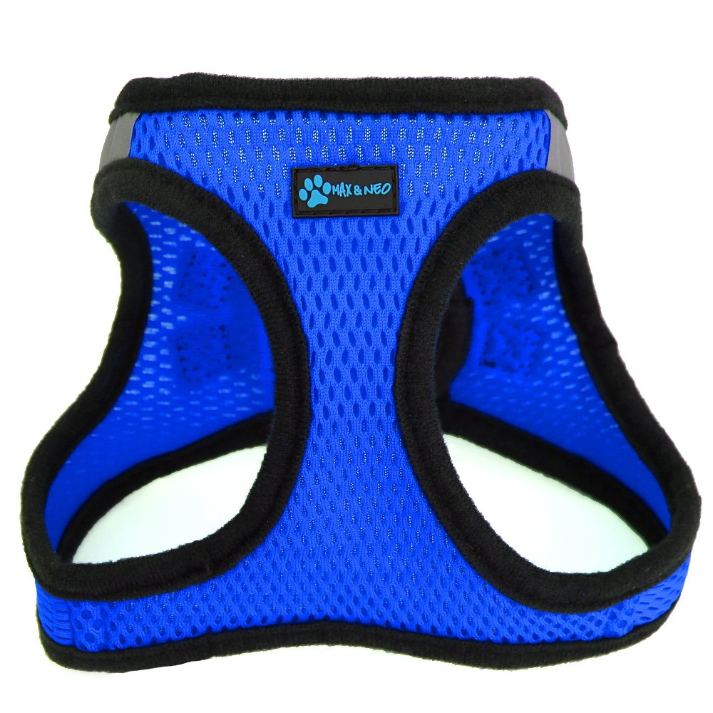 blueE Medium blueE Medium Max and Neo Nanu Small Dog Reflective Dog Harness We Donate a Harness to a Dog Rescue for Every Harness Sold (Medium, bluee)