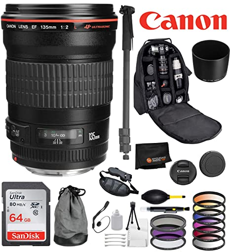 Amazon com : Canon EF 135mm f/2L USM Lens with Professional