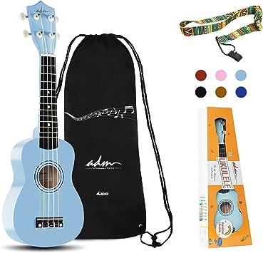 ADM Beginner Ukulele 21 Inch Soprano Kids Starter Pack Student Bundle Child  Kit with Gig bag and Strap, Blue: Amazon.ca: Musical Instruments, Stage &  Studio