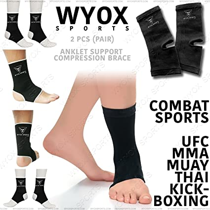 Twins Ankle Supports Muay Thai Ankle Guards Anklets Black Adult Brace