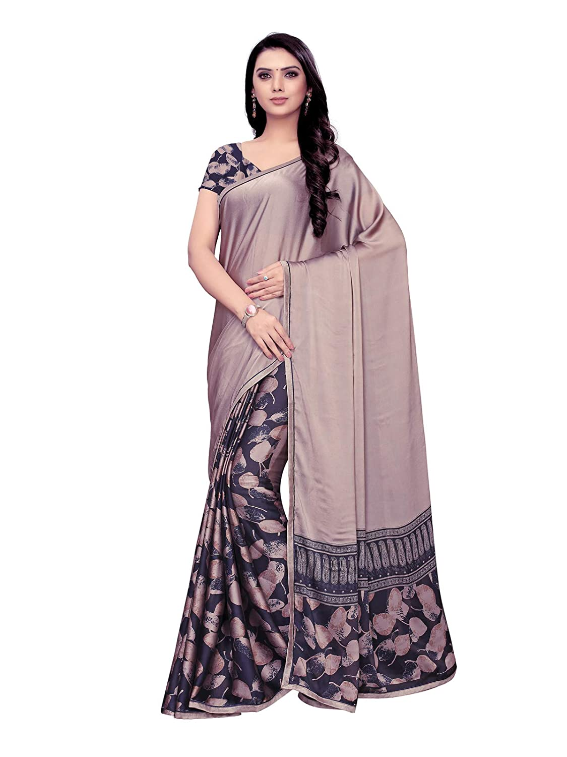 Best Chiffon Saree with Blouse Piece For Festive Wear Collection