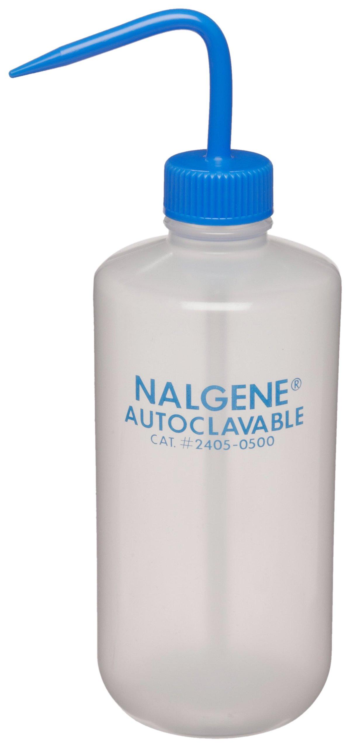 Nalgene 2405-0500 Wash Bottle, Autoclavable, Polypropylene (PP), 500mL (Pack of 6) by Nalgene