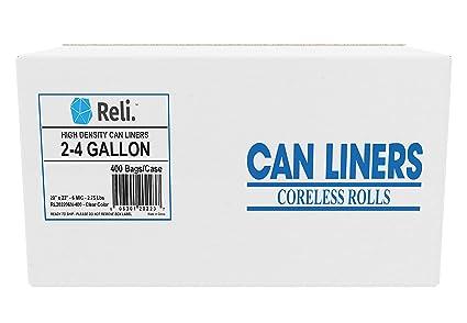 Amazon.com: Reli. Bolsas de basura, 2 – 4 galones (400 ...