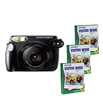 Fujifilm INSTAX 210 Instant Photo Camera Kit And 3 Instax Wide Film With 10 Exposures
